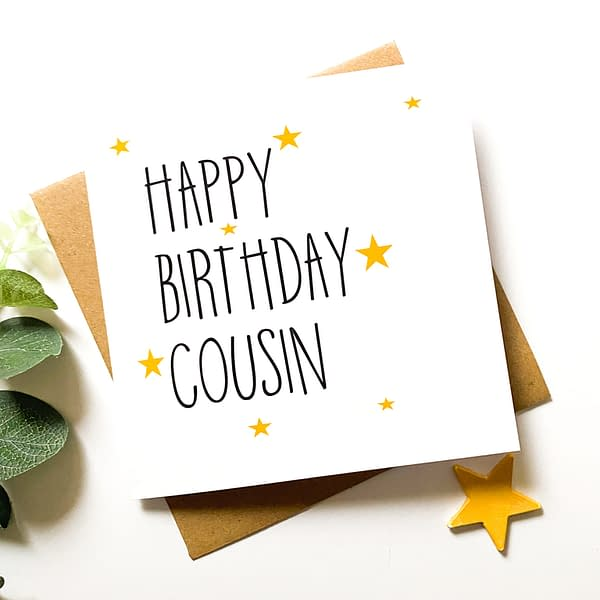 Card for cousin, cousin card