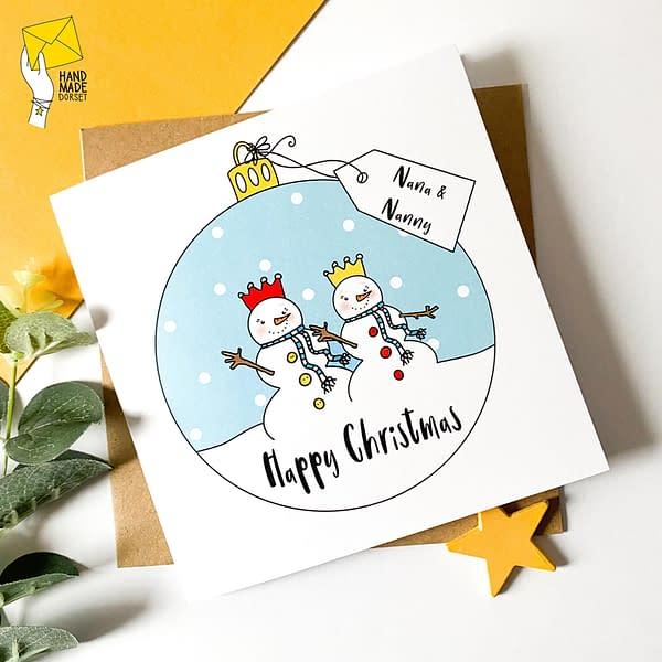 Nanny and Nana card, two nannies card