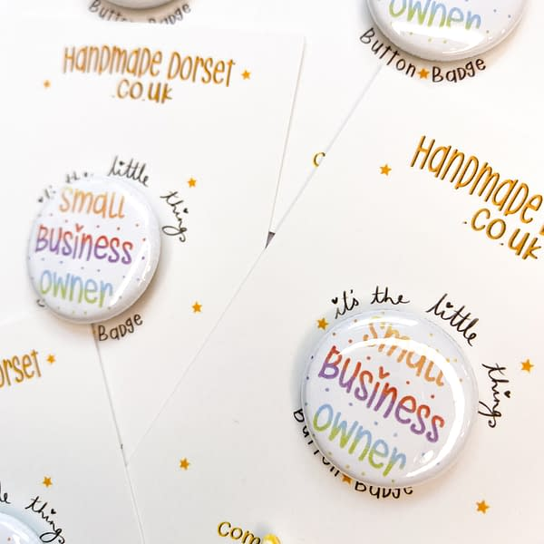 Small business owner badge, small business owner button