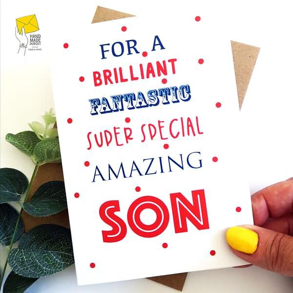 Son birthday card, birthday card for son