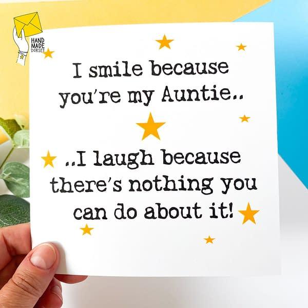 Funny Auntie card, auntie birthday card