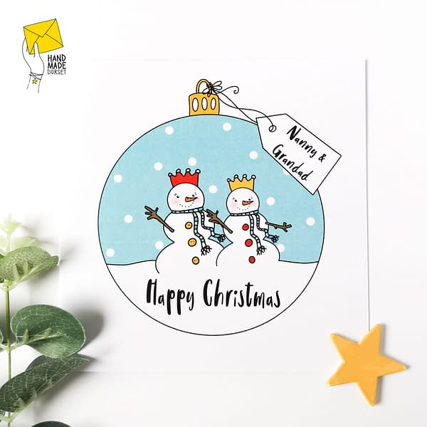 Christmas card for Nanny & Grandad, Granny & Grandpa, Nan & Pops