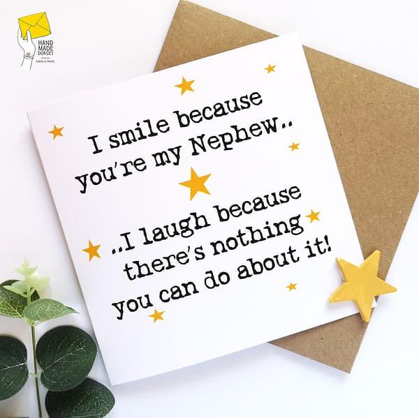 Nephew card, funny nephew birthday card