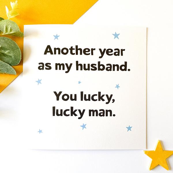 Anniversary card for husband, husband anniversary card