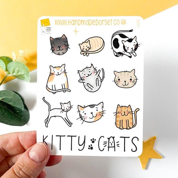 Cat stickers, cat sticker sheet