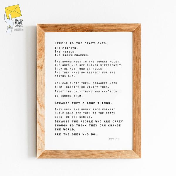 Here's to the misfits print, misfits print