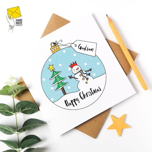 God-Son Christmas Card, christmas card for god-son