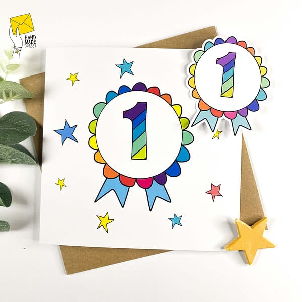 1st Birthday card, card for 1 year old