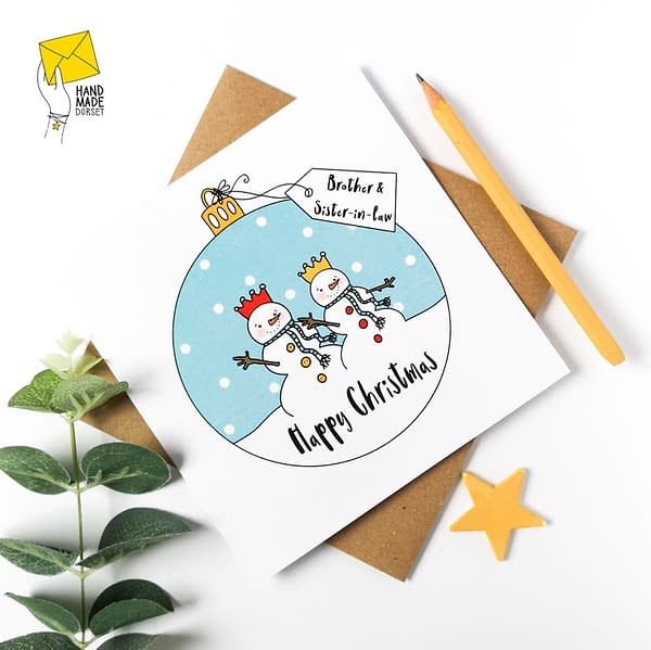 Brother and Sister-in-law Christmas card, Christmas card for brother and sister in law