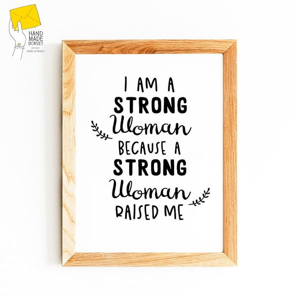 strong women quote, feminist print