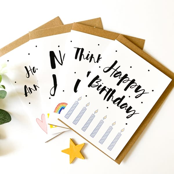 Pack of cards, pack of greetings cards