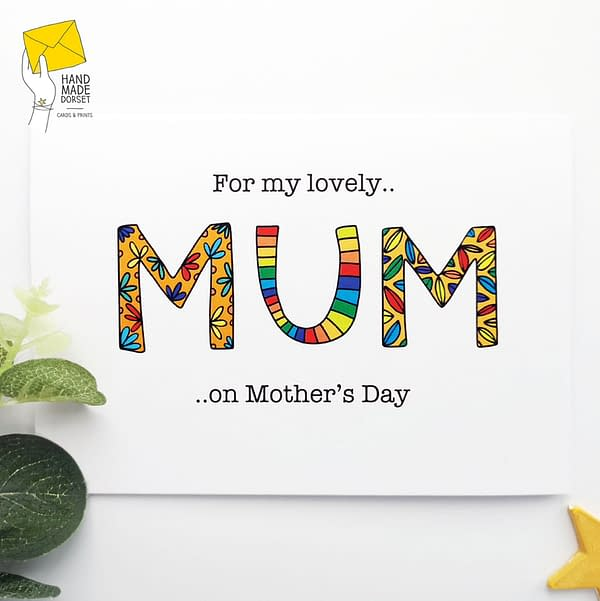 For my lovely Mum, Mother's day card