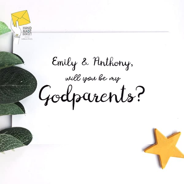 will you be my godparents card, godparents proposal card
