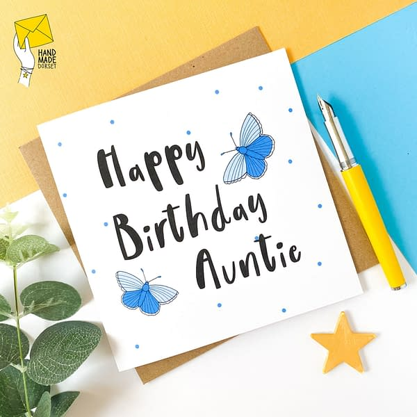 Auntie birthday card, Card for Auntie