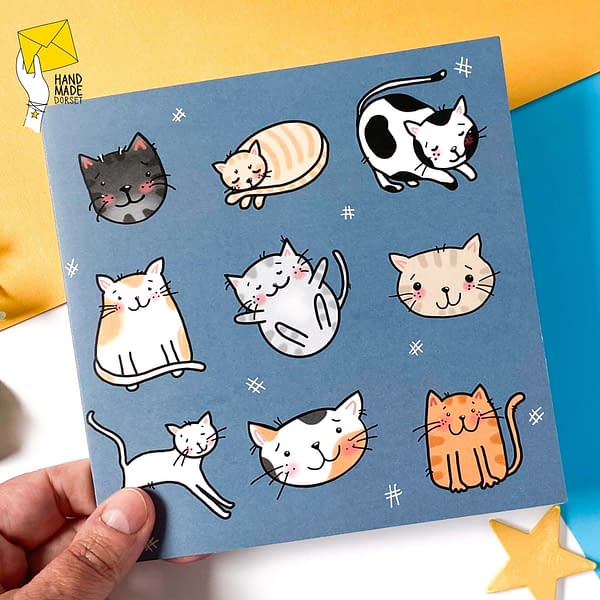 Cat card, cute 9 cats card