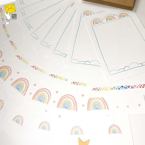 Writing paper set, rainbow letter writing paper