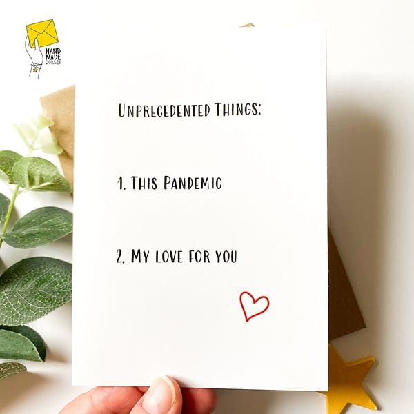 Valentines card, lockdown valentines