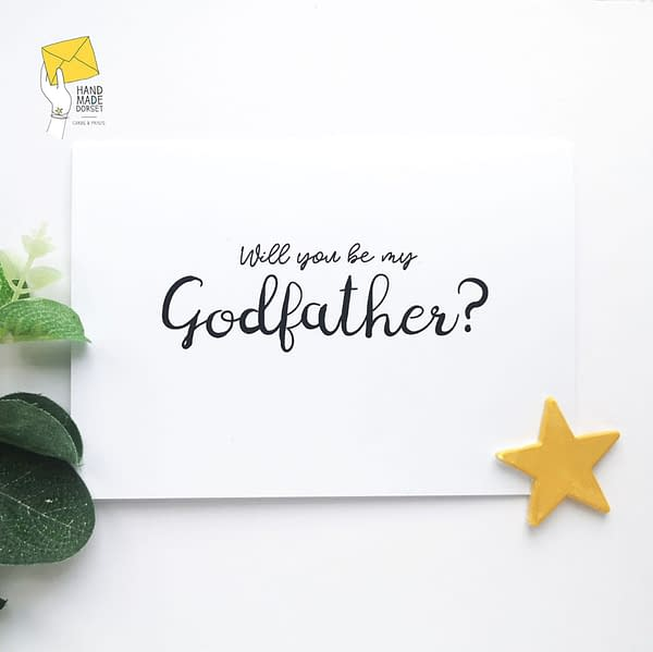 Personalised will you be my godfather card, godfather proposal card