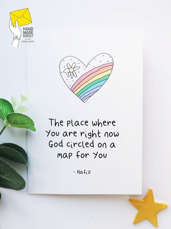 Beautiful Hafiz quote, everything is ok card