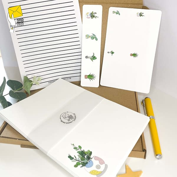 Writing paper set, plant letter writing paper