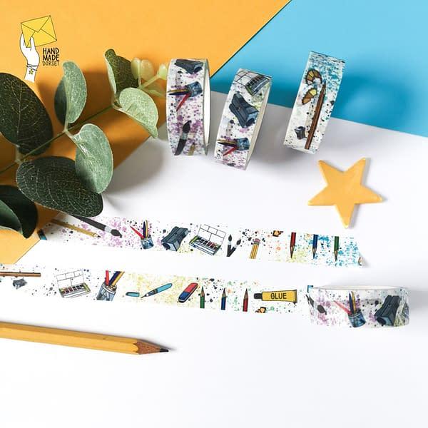 Art themed washi tape, Artist washi tape