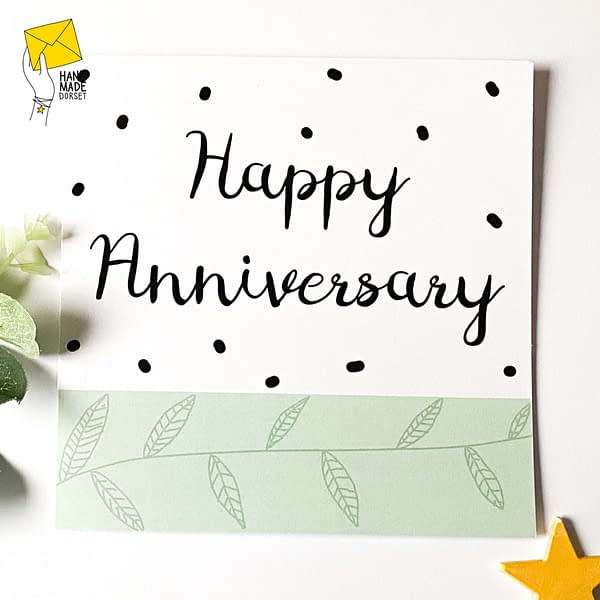 Happy Anniversary card, modern anniversary card