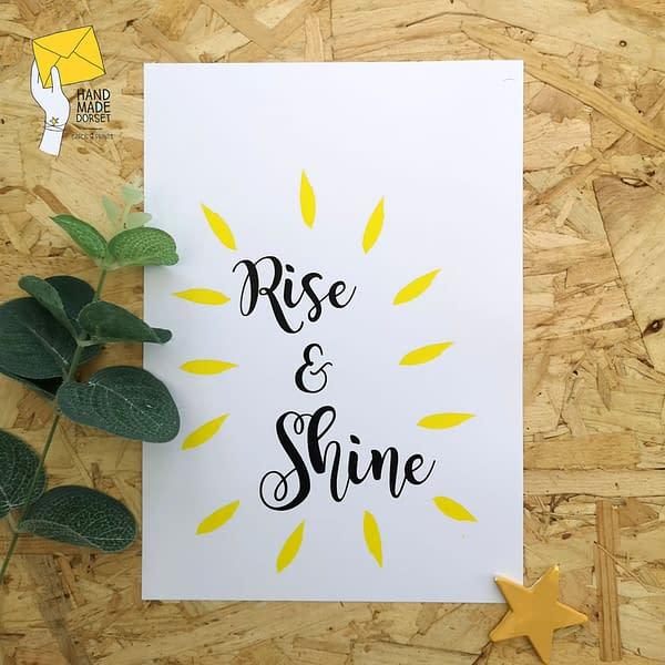 Rise & Shine print, kitchen decor