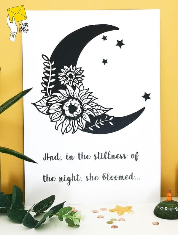 She bloomed, feminist print