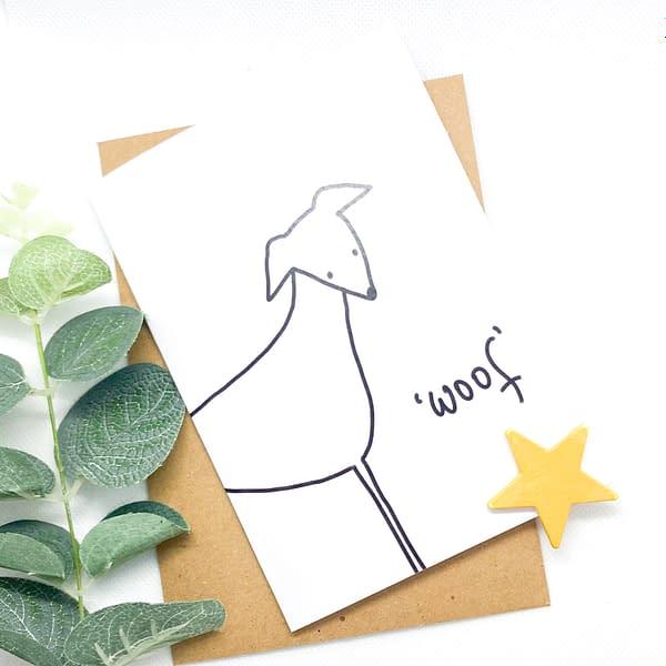 cute dog card, dog card