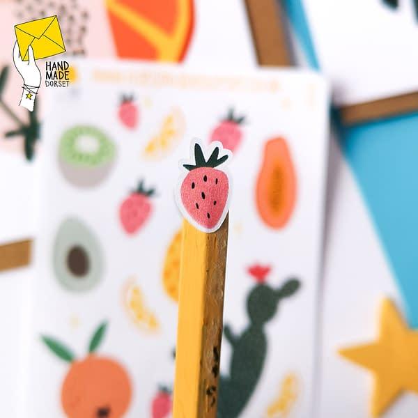 Cute summer fruit stickers, kawaii fruit stickers