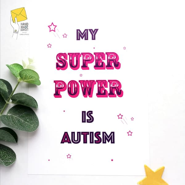 Autism print, super power autism print