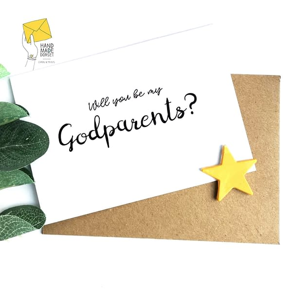 Will you be my Godmother card, godmother proposal card
