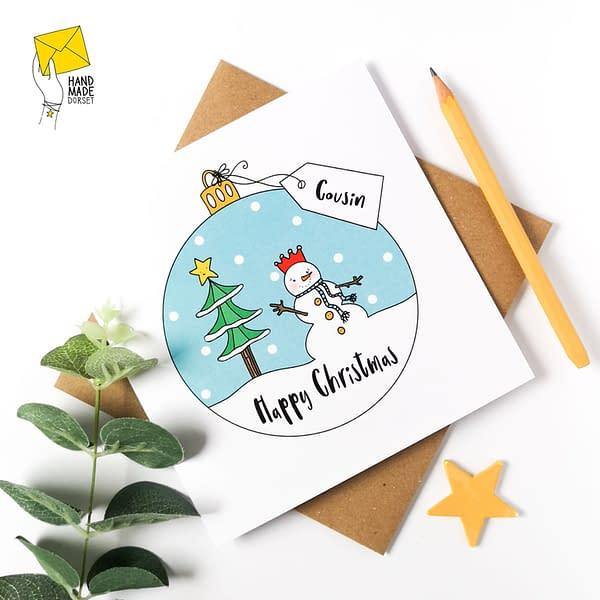 Cousin Christmas Card, christmas card for cousin