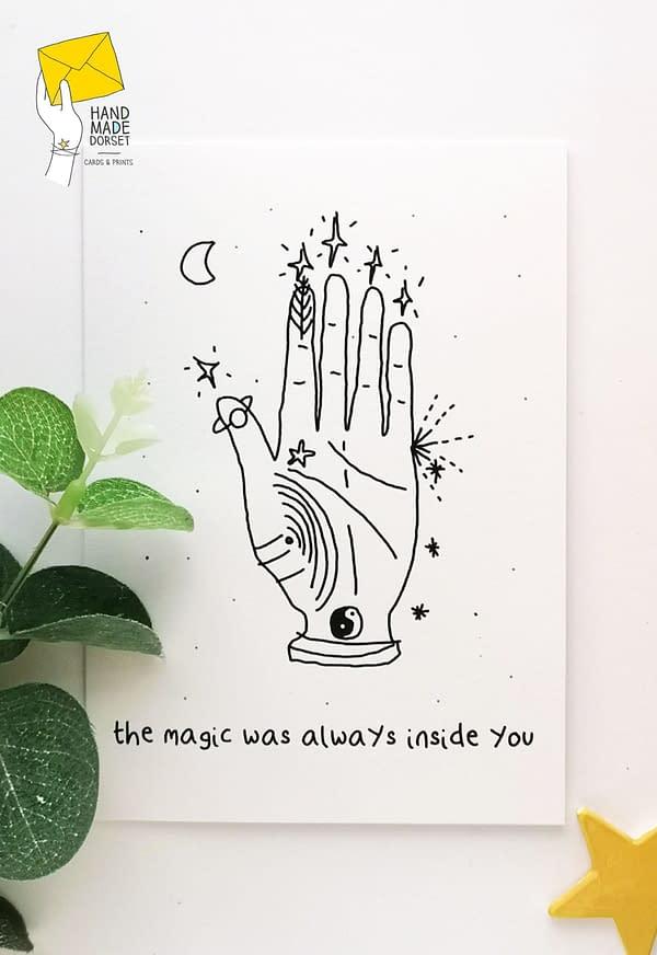 palmistry card, spiritual card