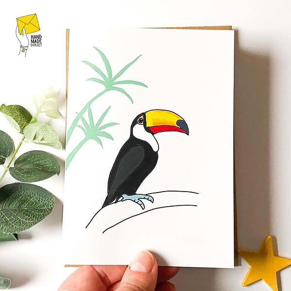 Toucan card, encouragement card