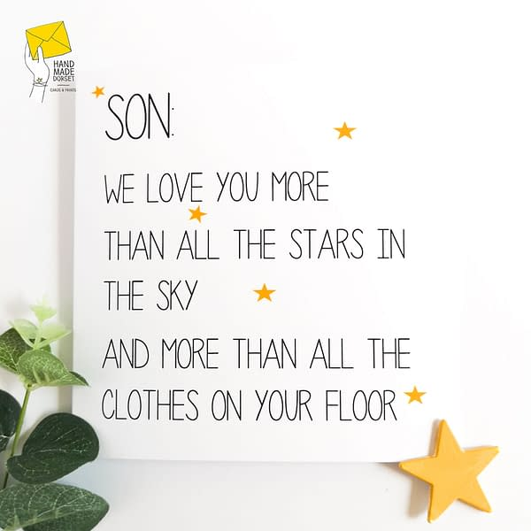 Card for Son, Funny card for son