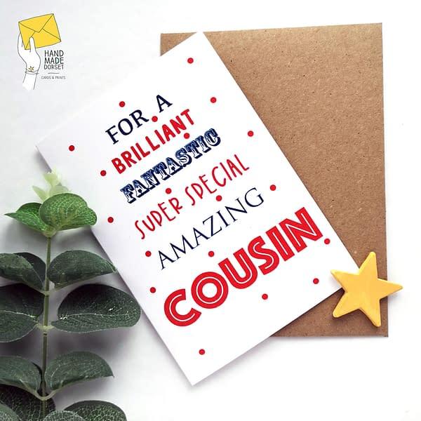 Cousin birthday card, birthday card for cousin