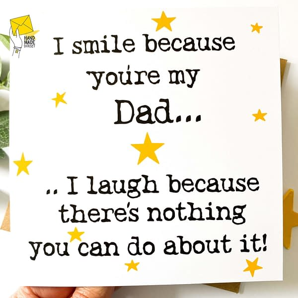 Funny Father's Day card, sale dad card