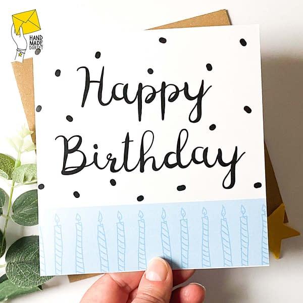 Happy Birthday card, modern birthday card