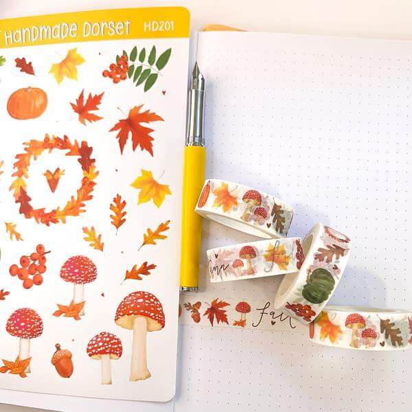 Autumn sticker sheet, autumn stickers