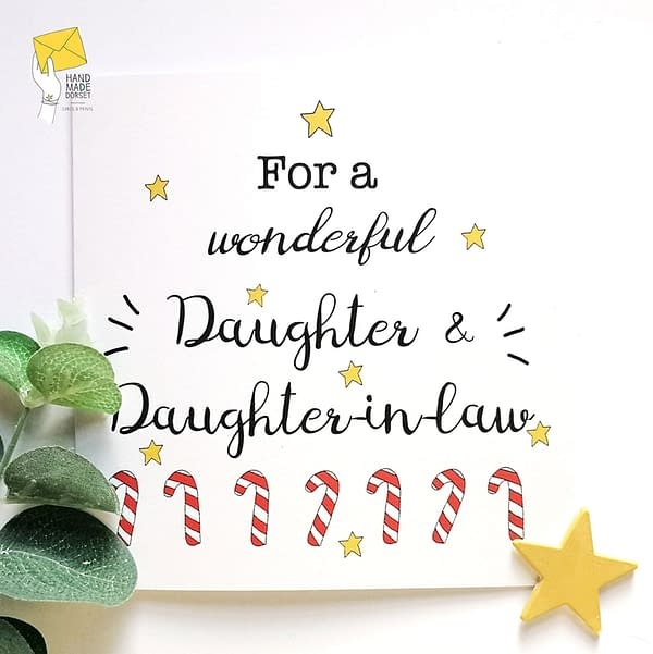 Daughter and daughter-in-law christmas card, card for daughter and her wife