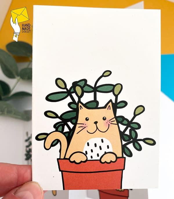 Pack of cat cards, cute cat cards, mini note cards