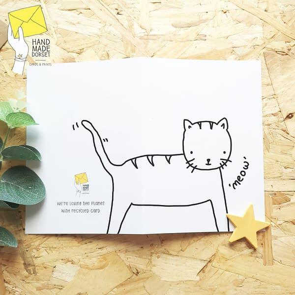 cute cat card, cat card