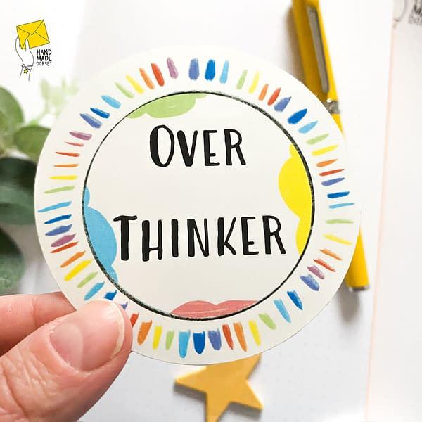 Over thinker sticker, asd sticker