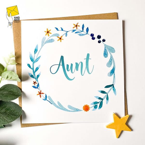 Aunt's birthday card, Card for Aunt