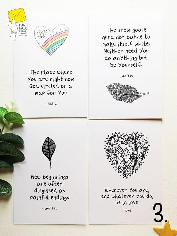 Rumi card, Rumi quote card