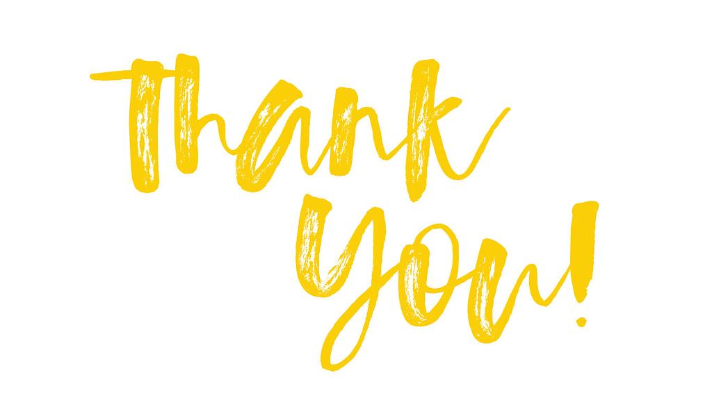 So much gratitude!