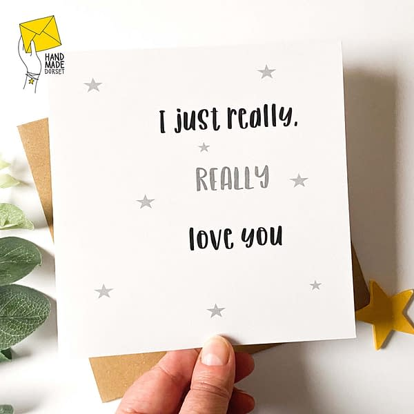 really love you card, valentines love you card