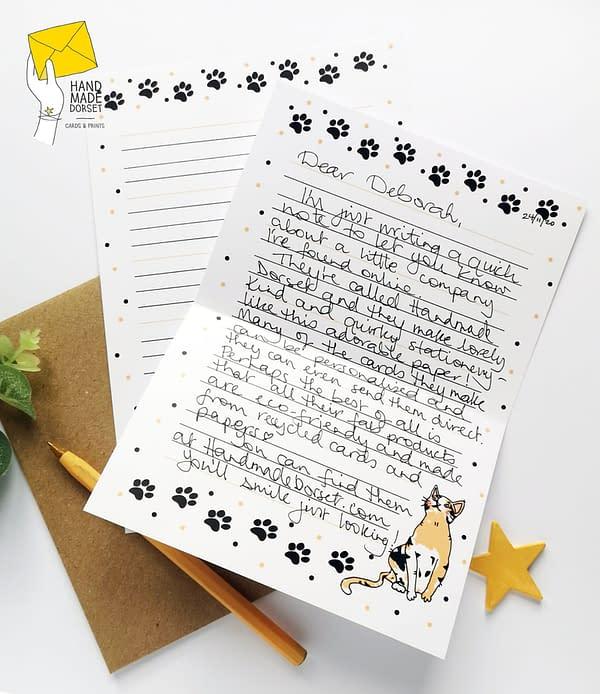 Cat writing paper, cute cat paper