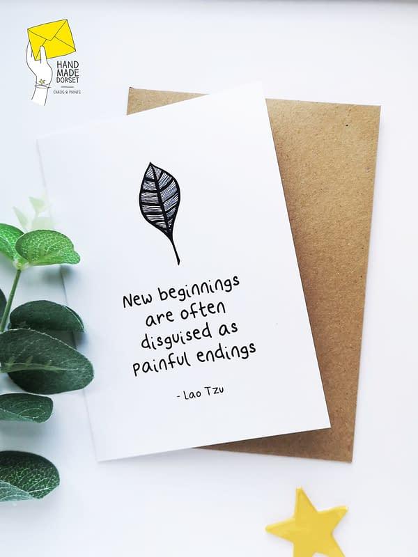 New beginnings card, new start card